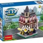 1109 City ตัวต่อ Mini Street View ร้านขายของ Store ในเมืองหลวง