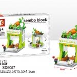 SD6057 Mini Street ของเล่นตัวต่อร้านขายผักสดเพื่อสุขภาพ Vegetable