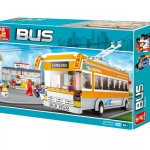 M38-B0332 ของเล่นตัวต่อรถบัสไฟฟ้า Luxury Bus สีส้ม Line 362