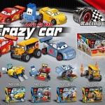 2901-2906 ของเล่นตัวต่อรถแข่ง Crazy Cars พร้อมของตกแต่ง