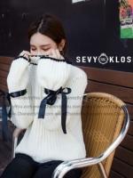 เสื้อไหมพรมคอเต่า งาน Knit แขนยาว