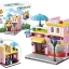 657007 Mini City StreetScape ของเล่นตัวต่อร้านไอศครีมเจลาโต Gelateria thumbnail 1