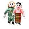 TY-5066 ชุดตุ๊กตาอาเซียน 10 ประเทศ แบบผ้า (1 ชุด มี 20 ตัว)