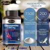 Auswelllife Glucosamine 1500mg with Shark Cartilage ออสเวลไลฟ์ กลูโคซามีน+กระดูกอ่อนปลาฉลาม วิตามินที่ช่วยรักษาอาการข้อเข่าเสื่อม กลูโคซามีน เป็นสารชนิดหนึ่งที่พบในร่างกายบริเวณข้อต่อต่างๆ โดยร่างกายนำไปใช้ในการผลิตเอ็น กระดูกอ่อน และน้ำหล่อเลี้ยงข้อ