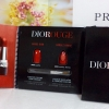ลิปสติก Dior Rouge Dior-Double Rouge sample Bubble card 2017 (ลิปดิออร์ โทนสีแดง 2 เนื้อ พร้อมแปรงทา ขนาดทดลอง พกพาได้) เป็นลิปที่ทาแล้ว สีติดทนนานมากๆ
