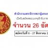 ประกาศ สำนักงานเลขาธิการสภาผู้แทนราษฎร รับสมัครสอบเข้ารับราชการ 26 อัตรา วันที่ 6 - 27 สิงหาคม 2561