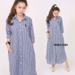 Polo gingham Maxi Dress shirt