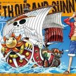 Thousand Sunny ของแท้ JP แมวทอง - Bandai Grand Ship Collection [โมเดลเรือวันพีช]