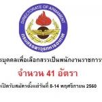 กรมสรรพาวุธทหารอากาศ เปิดสอบพนักงานราชการ 41 อัตรา วันที่ 8-14 พฤศจิกายน 2560