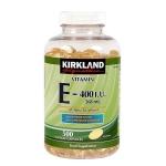 Kirkland Signature Vitamin E 400 I.U. (500 Softgels) 500 Softgels บำรุงผิวพรรณให้ชุ่มชื่นและเปล่งปลั่ง ต่อต้านอนุมูลอิสระอย่างมีประสิทธิภาพ