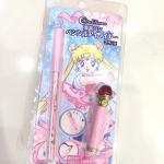 Miracle Romance Sailor Moon Pencil Eyeliner Disguise Pen Creer Beaute Japan Sailor Moon Pencil Eyeliner 2016 - Change Rod Motif ดินสอเขียนขอบตา ไลนเนอดินสอสีดำ แบบไม่เลอะไม่เยิ้ม ไม่เปื้อน สีดำเข้ม ดำคลับ เพิ่มความคมชัดให้ดวงตาที่กลมโตของคุณ