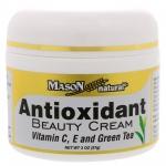Mason Natural Antioxidant Beauty Cream with Vitamin C , E and Green Tea 57g เมสัน แอนตี้ออกซิเดนท์ครีม ครีมบำรุงผิวหน้าต้านอนุมูลอิสระสูตรเข้มข้น แบรนด์ดังจากอเมริกา กับการบำรุงอีกระดับสำหรับผิวที่มีริ้วรอยมากขึ้น ป้องกันริ้วรอยแห่งวัยได้อย่างมีประสิทธิภ