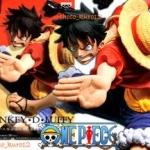 Luffy ของแท้ JP แมวทอง - Scultures Champion Banpresto [โมเดลวันพีช] (Rare)