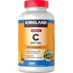 KIRKLAND C 500mg Chewable วิตซีชนิดเคี้ยวทานง่าย ทานได้ทั้งครอบครัว วิตามินซี C สูง เคี้ยวรสส้มอร่อยๆ 500 เม็ด 500 วัน ทานได้ทั้งครอบครัว ต้านหวัดอย่างสม่ำเสมอทุกวัน