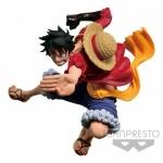 Luffy ของแท้ JP แมวทอง - Scultures Champion Banpresto [โมเดลวันพีช]