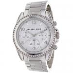นาฬิกาข้อมือ Michael Kors รุ่น MK5165 Michael Kors Ladies Chronograph White Crystal Stainless Steel Watch