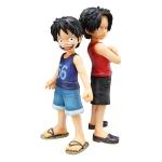 Luffy & Ace ของแท้ JPแมวทอง - POP CB-EX Megahouse [โมเดลวันพีช] (Rare) 2 ตัว