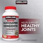 Kirkland Glucosamine HCI 1500mg Chondroitin 1200mg 220Tablets วิตามินบำรุงกระดูก ข้อเสื่อม ข้ออักเสบ Glucosamine ช่วยบำรุงข้อ และ กระดูกอ่อนให้เคลื่อนไหวอย่างมีประสิทธิภาพ สร้างเกราะป้องกันให้กับกระดูกอ่อน และเนื้อเยื่อตามข้อต่างๆให้มีสุขภาพที่ดี
