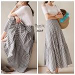 กระโปรงยาว Korea Long Stripe Skirt