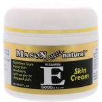 Mason Natural Vitamin E Skin Cream 57 g. เมสัน วิตามินอี สกินครีม ครีมบำรุงผิวหน้าวิตามินอีเข้มข้น 6,000 มล. เหมาะสำหรับผิวแห้ง ขาดความชุ่มชื่น มีริ้วรอย บำรุงลึกล้ำถึงชั้นผิวให้ผิวอิ่มฟู ชุ่มชื่น เรียบเนียนน่าสัมผัส และช่วยปกป้องผิวจากมลภาวะภายนอก ทั้งแส