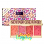 Tarte Cosmetics | Blush Bliss Blush Palette # Tarte Delight พาเลทบลัชออน 4 เฉดสี โทนสีธรรมชาติ มอบพวงแก้ม ที่ดูระเรื่อ สดใส เปล่งปลั่ง สุขภาพดีอย่างเป็นธรรมชาติ ด้วยส่วนผสมจาก Amazon Clay ช่วยบำรุงปรับสมมดุลความชุ่มชื่น และดูดซับความมันส่วนเกิน เนื้อบางเบ