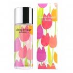 "Clinique Happy In Bloom EDP 50 ml. กลิ่นน้ำหอมจะให้ความเป็นผู้หญิงและความโรแมนติค ผสมผสานกับกลิ่นโน๊ตของดอกไม้ผลไม้ ขวดน้ำหอมได้ถูกออกแบบมาสวยงามด้วยลายของดอกไม้หลากหลายสีสัน ซึ่งทาง Clinique เรียกว่า ""spring in a bottle"""