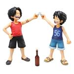 Luffy & Ace ของแท้ JP - POP CB-EX Megahouse [โมเดลวันพีช]