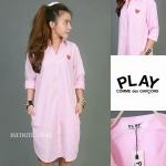 Play Comme Des Garcons Dress shirt ทรง classic