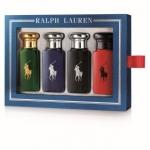 Ralph Lauren Polo 30ml Eau de Toilette Fragrance Gift Set Consists of : - RL Polo Red 30ml Edt - RL Polo Black 30ml Edt - RL Polo Blue 30ml Edt - RL Polo (Green) 30ml Edt - POLO RED, the new woody-spicy fragrance for a daring and sensual man ความหอมที่รัง