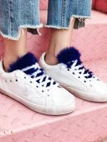 รองเท้าผ้าใบแฟชั่น สีน้ำเงิน