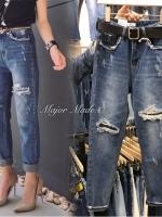กางเกงยีนส์ทรงบอยแฟชั่น JH1012#