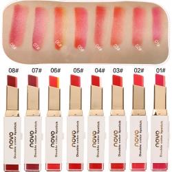 ราคาส่งเลื่องดูด้านล่าง NOVO Double color lipstick