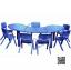 SPO-1010B โต๊ะรูปถั่วกับเก้าอี้คิดดี้ 7 ตัว
