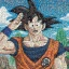Goku Mosaic Art - Jigsaw Dragonball ของแท้ JP แมวทอง thumbnail 4