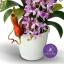 แจกันดอกไม้ประดิษฐ์ ช้างกละ Rhynchostylis Gigantea สีม่วง ในแจกันเซรามิคอย่างดี thumbnail 3
