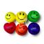 PS-1201 ลูกบอลกลมยิ้ม (ขนาด3 นิ้ว) โหลละ