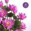 แจกันดอกบัวประดิษฐ์แฮนดิท็อพ เพื่อบูชาพระ ถวายวัด หรือเป็นของขวัญขึ้นบ้านใหม่ ดอกบัวหลวงขนาดใหญ่ 12 ดอก thumbnail 3