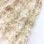 Set เสื้อลูกไม้สีขาวเนื้อนิ่ม กระโปรงซีทรู งานปักประดับเลื่อมลายดอกไม้ thumbnail 4