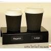 แท่นโชว์แก้วกาแฟ 2 แก้ว สำหรับร้านกาแฟ เค้าเตอร์ร้านขายน้ำ (สั่ง 20 ชิ้น ขึ้นไป)