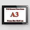 A3 กรอบรูปอะครีลิค ติดผนัง 48x36ซม. Acrylic Wall Mounted Photo Frame 48x36cm.(for A3)