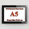A5 กรอบรูปอะครีลิค ติดผนัง 26x20ซม. Acrylic Wall Mounted Photo Frame 26x20cm.(for A5)