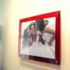 กรอบรูปอะครีลิค ติดผนัง สีไวน์แดง Acrylic Wall Mounted Photo Frame - Red Wine