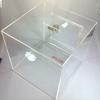 20cm.(8นิ้ว) กล่องรับบริจาคสี ใส (กล่องรับความคิดเห็น กล่องรับทิป [Tip Box | Donate Box | Suggestion Box])