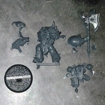 Chaos Space Marine Chosen with Power Axe DV single