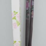 H 117 ของชำร่วย ตะเกียบไม้แพ็คกล่องลายดอกสีหวาน