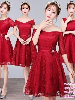 ชุดราตรียาว,ชุดเพื่อนเจ้าสาว ธีมสีแดงเข้ม หลังโอนเงิน รอสินค้า 15-20 วัน