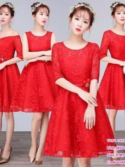 ชุดราตรียาว,ชุดเพื่อนเจ้าสาว ธีมสีแดงสด หลังโอนเงิน รอสินค้า 15-20 วัน