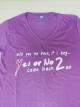 เสื้อยืด Yes Or No 2 ม่วง ไซส์ M