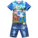 (Pre) เสื้อ + กางเกง สีน้ำเงิน -ระบุไซส์