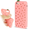Case เคส 2-color Gradient Strawberry Style Urethane TPU iPhone 5 (Pink)